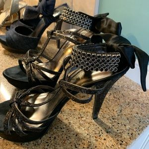 Guess size 6.5 black high heels